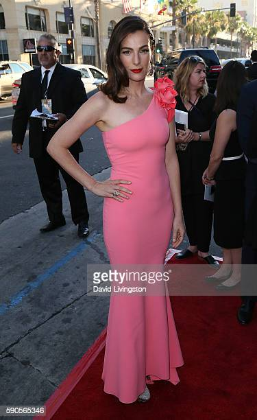 Actress Ayelet Zurer attends the premiere of Paramount Pictures' 'BenHur' at the TCL Chinese Theatre IMAX on August 16 2016 in Hollywood California