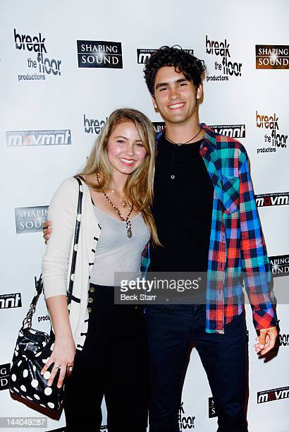 Actress Ayla Kell and actor Tom Maden arrive at 'So You Think You Can Dance' alumni showcase at Saban Theatre on May 8 2012 in Beverly Hills...