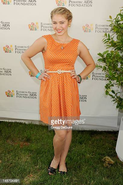 Actress Ayla Kell arrives at Elizabeth Glaser Pediatric AIDS Foundation's 23rd Annual 'A Time For Heroes' Celebrity Picnic at Wadsworth Theater on...