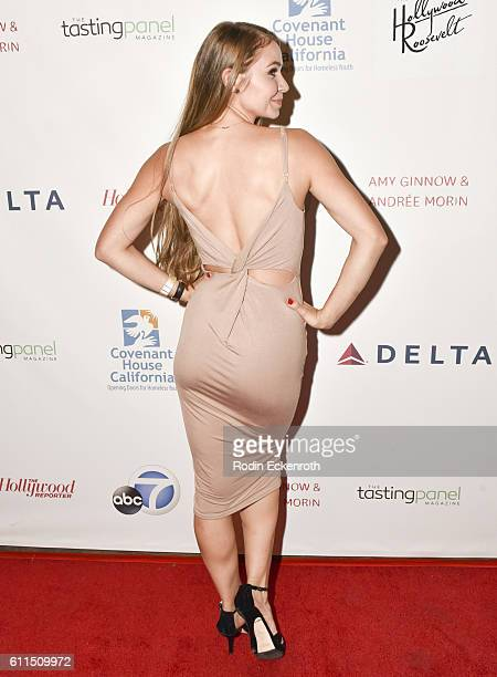Actress Ayla Kell attends the 4th Annual All Star Mixology Competition to Benefit Covenant House California at Hollywood Roosevelt Hotel on September...