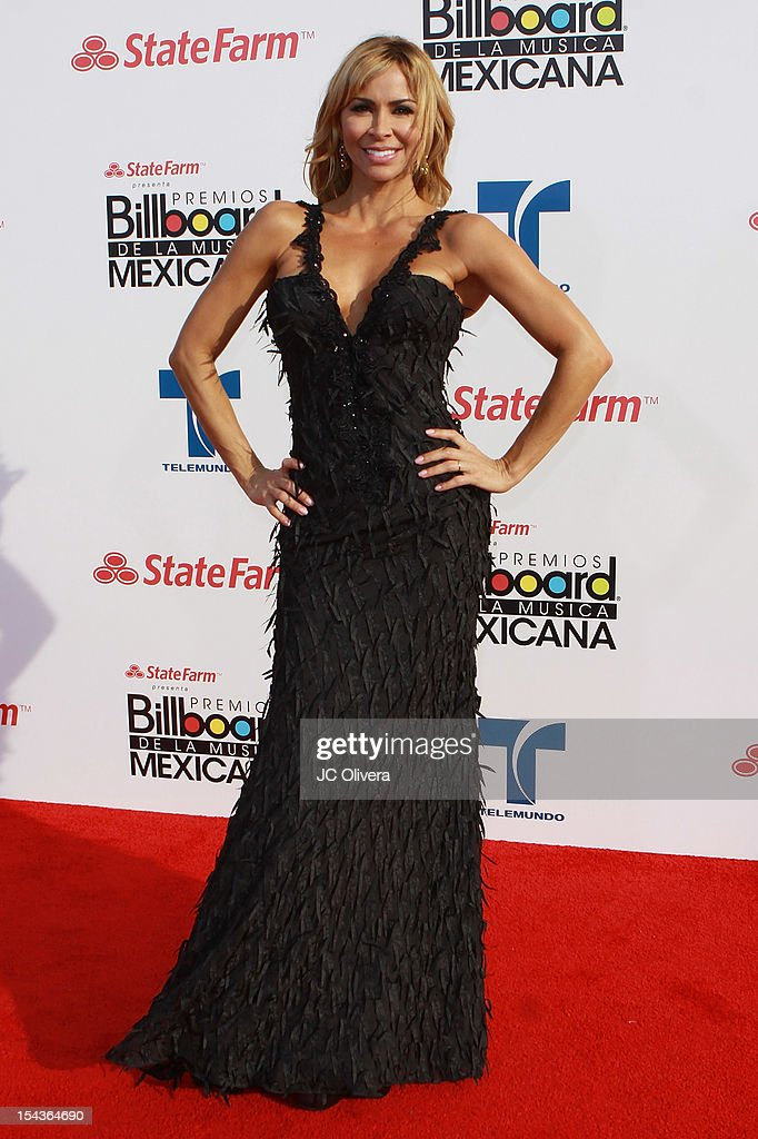 Actress Aylin Mujica attends the 2012 Billboard Mexican Music Awards at The Shrine Auditorium on October 18, 2012 in Los Angeles, California.