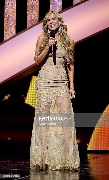 Actress Aylin Mujica speaks onstage at the Billboard Mexican Music Awards at the Dolby Theatre on October 9 2013 in Los Angeles California