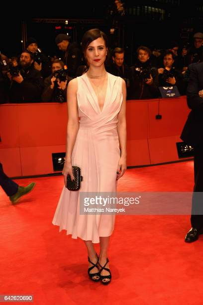 Actress Aylin Tezel wearing Boss arrives for the closing ceremony of the 67th Berlinale International Film Festival Berlin at Berlinale Palace on...