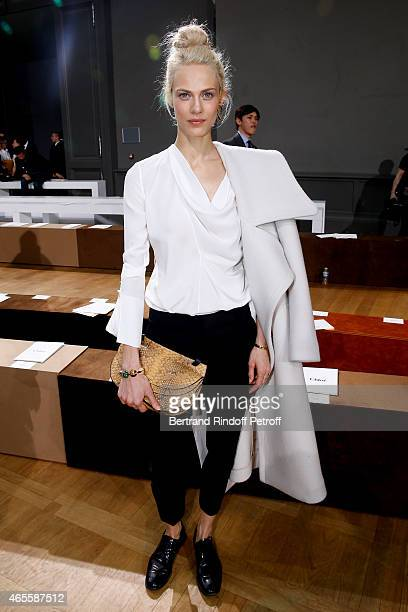 Actress Aymeline Valade attends the Chloe show as part of the Paris Fashion Week Womenswear Fall/Winter 2015/2016 on March 8 2015 in Paris France