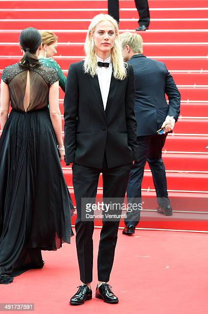 Actress Aymeline Valade attends the 'Saint Laurent' Premiere at the 67th Annual Cannes Film Festival on May 17 2014 in Cannes France