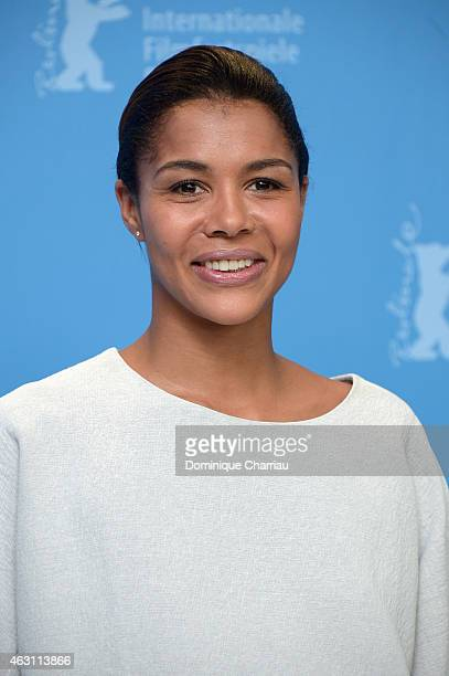 Actress Ayo attends the 'Murder in Pacot' photocall during the 65th Berlinale International Film Festival at Grand Hyatt Hotel on February 10 2015 in...