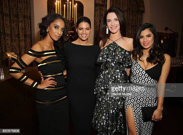 Actress Azie TesfaiAndrea Navedo Bridget Regan and Diane Guerrero attend the Entertainment Weekly Celebration of SAG Award Nominees sponsored by...