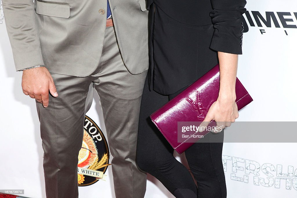 Actress Azita Ghanizada and Eli Roth attend the premiere of 'Aftershock' at Mann Chinese 6 on May 1 2013 in Los Angeles California