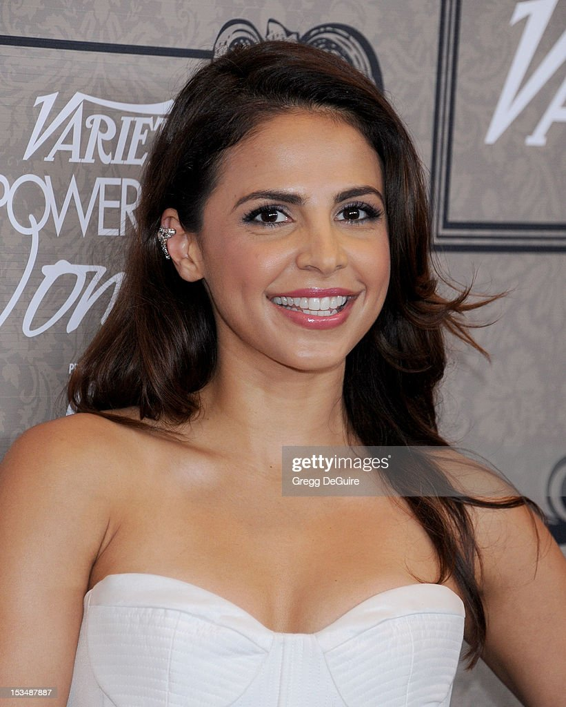 Actress Azita Ghanizada arrives at Variety's 4th Annual Power Of Women event at the Beverly Wilshire Four Seasons Hotel on October 5, 2012 in Beverly Hills, California.