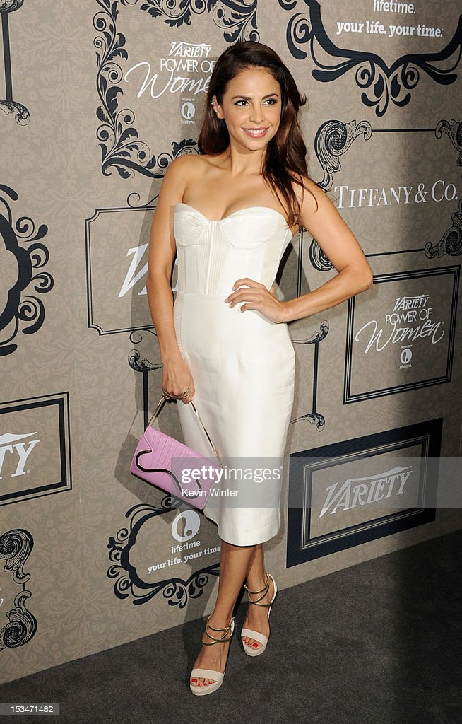 Actress Azita Ghanizada arrives at Variety's Power of Women presented by Lifetime at the Beverly Wilshire Hotel on October 5, 2012 in Beverly Hills, California.