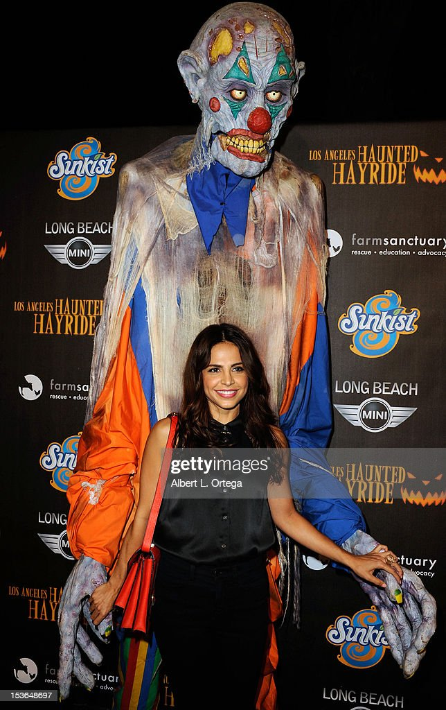 Actress Azita Ghanizada arrives for the 4th Annual Los Angeles Haunted Hayride - 'The Congregation' held at Griffith Park on October 7, 2012 in Los Angeles, California.