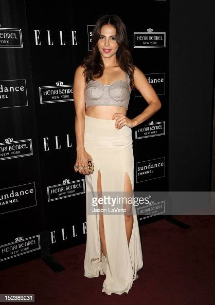 Actress Azita Ghanizada attends ELLE Sundance Channel's celebration of 'All On The Line With Joe Zee' at Soho House on September 19 2012 in West...
