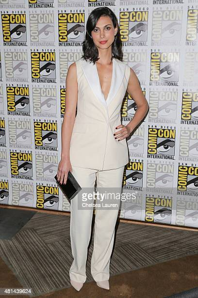 Actress Baccarin Morena arrives at the 'Deadpool' press room on July 11 2015 in San Diego California