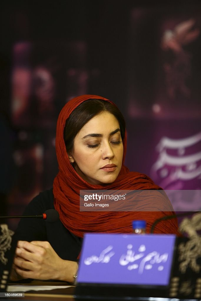 Actress Bahareh Kian Afshar at Day 1 of the 31th International Fajr Film Festival on January 31, 2013 in Tehran, Iran. Organized by the Ministry of Culture and Islamic Guidance, the Film Festival is the most important film event in the country.