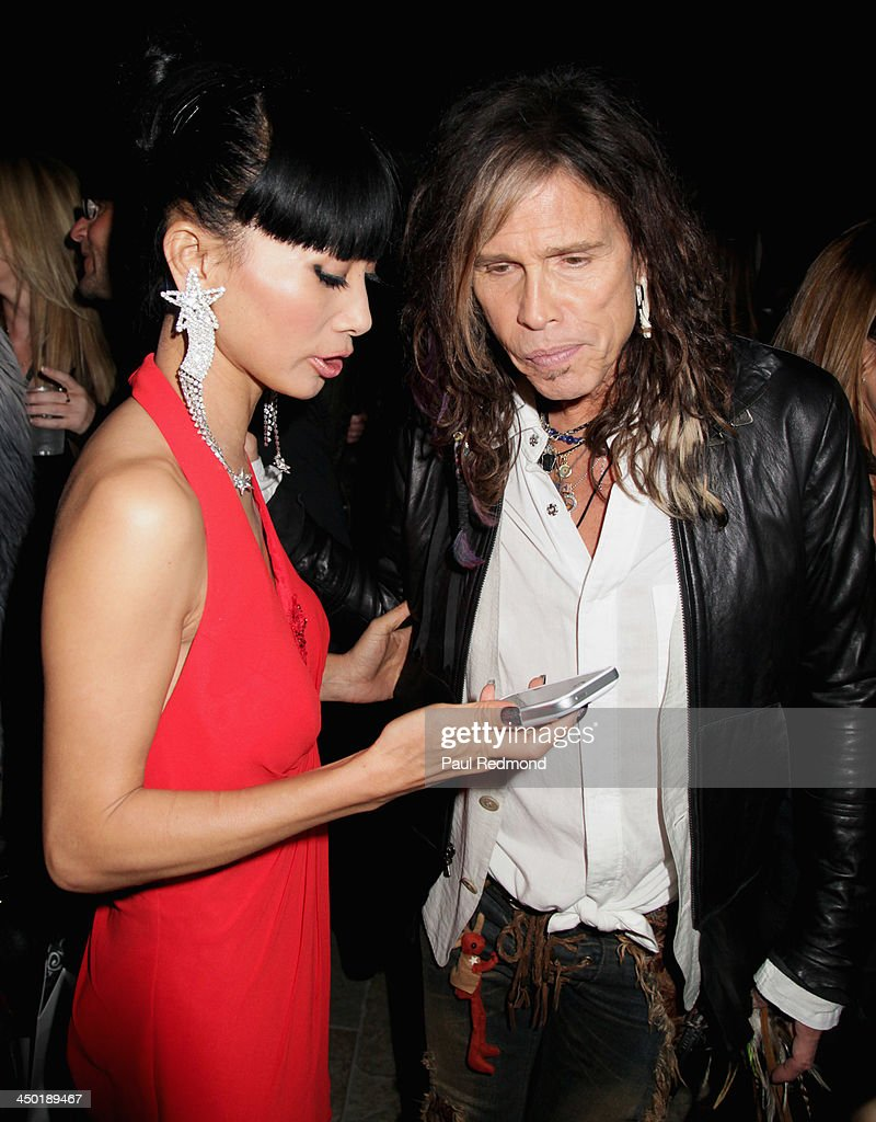 Actress Bai Ling and singer Steven Tyler attend Sunset Marquis Hotel 50th Anniversary Birthday Bash at Sunset Marquis Hotel & Villas on November 16, 2013 in West Hollywood, California.