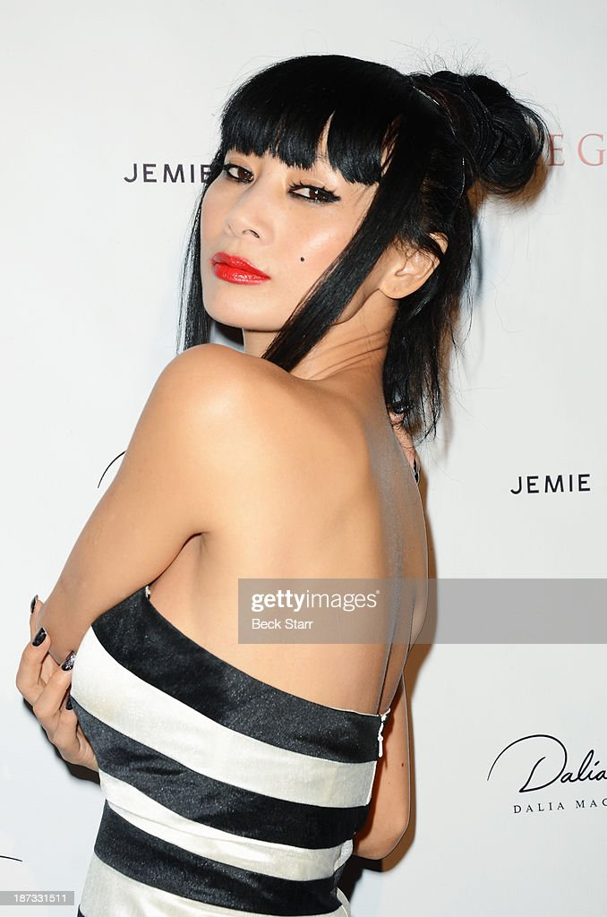 Actress <a gi-track='captionPersonalityLinkClicked' href=/galleries/search?phrase=Bai+Ling&family=editorial&specificpeople=201459 ng-click='$event.stopPropagation()'>Bai Ling</a> arrives at Canadian Consul General honors fashion designer Dalia MacPhee on November 7, 2013 in Los Angeles, California.