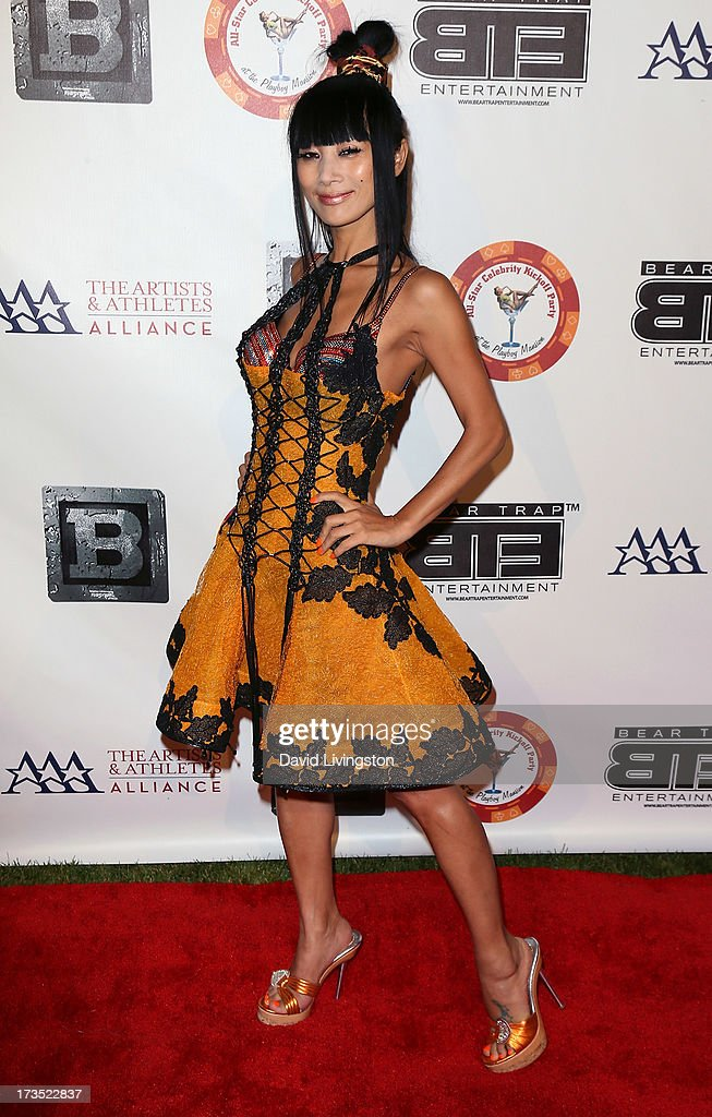Actress <a gi-track='captionPersonalityLinkClicked' href=/galleries/search?phrase=Bai+Ling&family=editorial&specificpeople=201459 ng-click='$event.stopPropagation()'>Bai Ling</a> attends the 8th Annual BTE All-Star Celebrity Kickoff Party at the Playboy Mansion on July 15, 2013 in Beverly Hills, California.