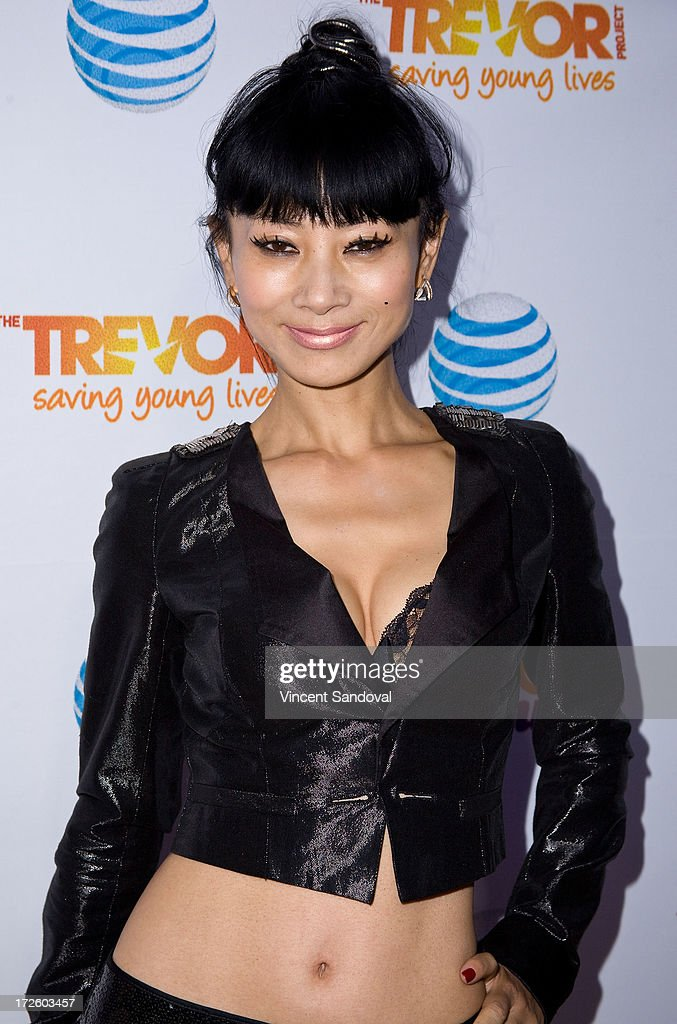 Actress <a gi-track='captionPersonalityLinkClicked' href=/galleries/search?phrase=Bai+Ling&family=editorial&specificpeople=201459 ng-click='$event.stopPropagation()'>Bai Ling</a> attends the Adam Lambert performance and check donation presentation to The Trevor Project for 'Live Proud' Campaign at Playhouse Hollywood on July 3, 2013 in Los Angeles, California.