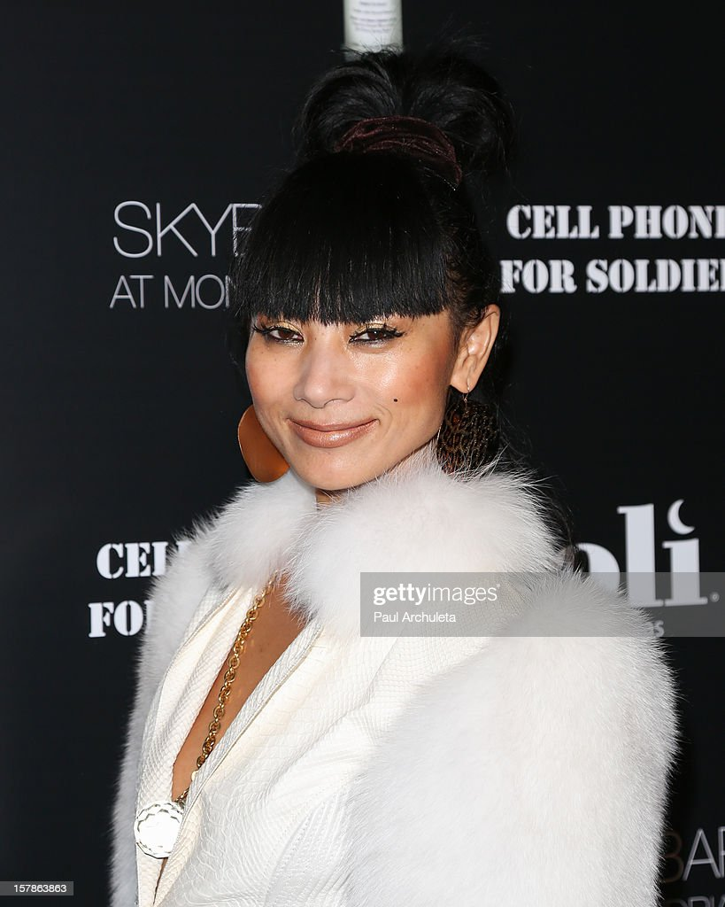 Actress Bai Ling attends the Cell Phones For Soldiers charity event sponsored by Voli Light Vodka at Sky Bar in the Mondrian Hotel on December 6, 2012 in West Hollywood, California.