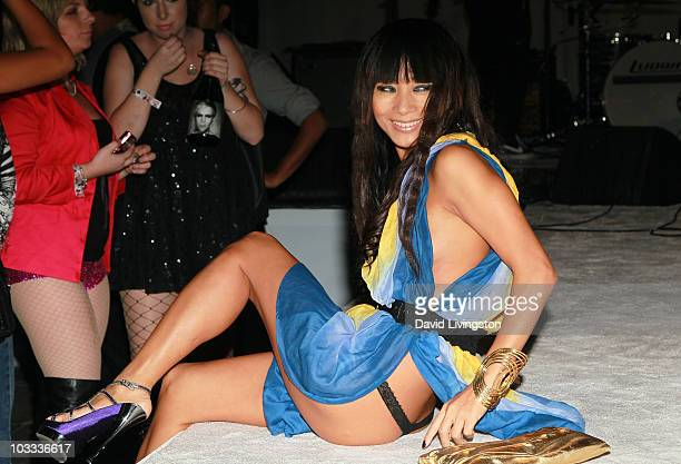 Actress Bai Ling attends the Lyric Culture 'Nude Collection' launch party with a performance by Semi Precious Weapons at Fred Segal on August 10 2010...
