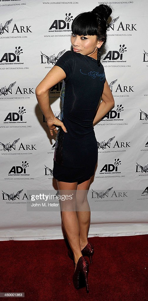 Actress Bai Ling attends the premiere of 'Lion Ark' at the Charles Aidikoff Screening Room on November 15, 2013 in Beverly Hills, California.