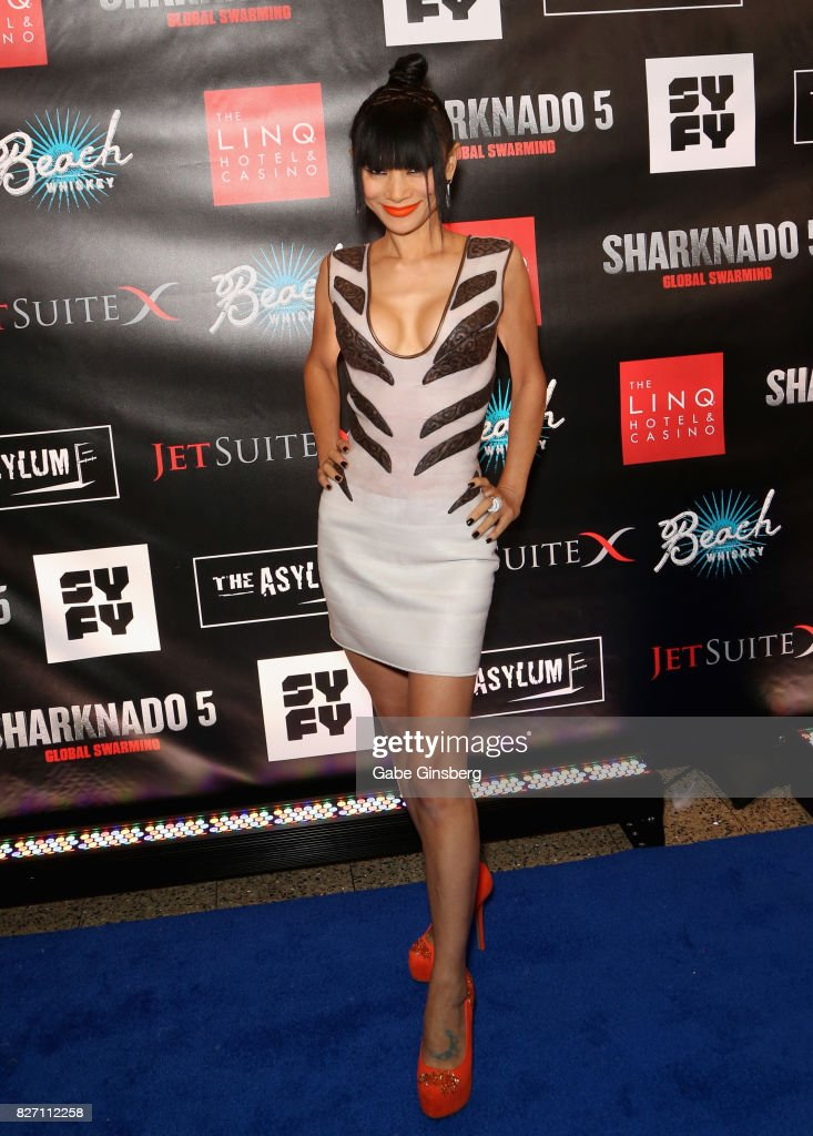 Actress Bai Ling attends the premiere of 'Sharknado 5: Global Swarming' at The Linq Hotel & Casino on August 6, 2017 in Las Vegas, Nevada.