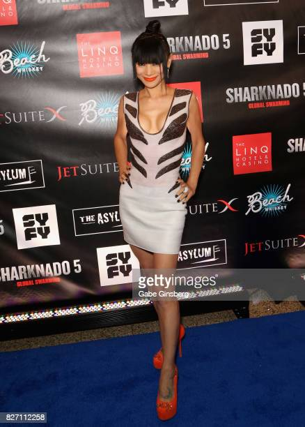 Actress Bai Ling attends the premiere of 'Sharknado 5 Global Swarming' at The Linq Hotel Casino on August 6 2017 in Las Vegas Nevada