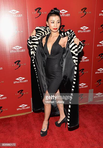 Actress Bai Ling attends the premiere of Well Go USA's 'Ip Man 3' at Pacific Theatres at The Grove on January 20 2016 in Los Angeles California