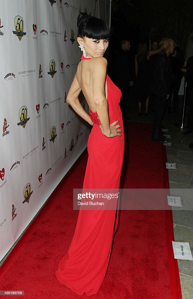 Actress <a gi-track='captionPersonalityLinkClicked' href=/galleries/search?phrase=Bai+Ling&family=editorial&specificpeople=201459 ng-click='$event.stopPropagation()'>Bai Ling</a> attends the Sunset Marquis Hotel 50th Anniversary Birthday Bash at Sunset Marquis Hotel & Villas on November 16, 2013 in West Hollywood, California.