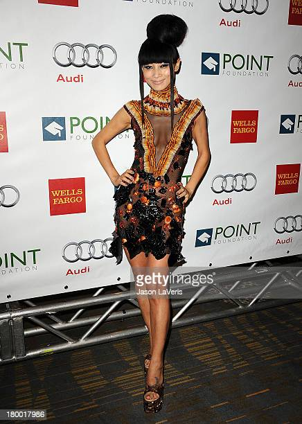 Actress Bai Ling attends the Voices On Point musical gala to benefit the Point Foundation at the Hyatt Regency Century Plaza on September 7 2013 in...