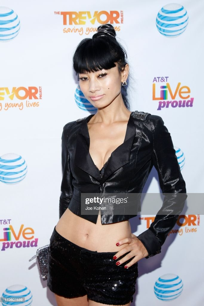 Actress <a gi-track='captionPersonalityLinkClicked' href=/galleries/search?phrase=Bai+Ling&family=editorial&specificpeople=201459 ng-click='$event.stopPropagation()'>Bai Ling</a> attneds Adam Lambert Performance And Check Donation Presentation To The Trevor Project For 'Live Proud' Campaign at Playhouse Hollywood on July 3, 2013 in Los Angeles, California.