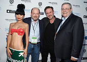 Actress Bai Ling Brad Parks actor David Arquette and Rod Beaudoin attend the opening night of the Hollywood Film Festival at ArcLight Hollywood on...