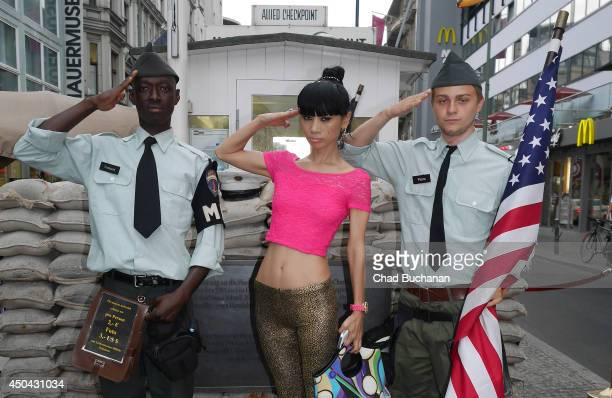 Actress Bai Ling sighted at Checkpoint Charlie on June 11 2014 in Berlin Germany