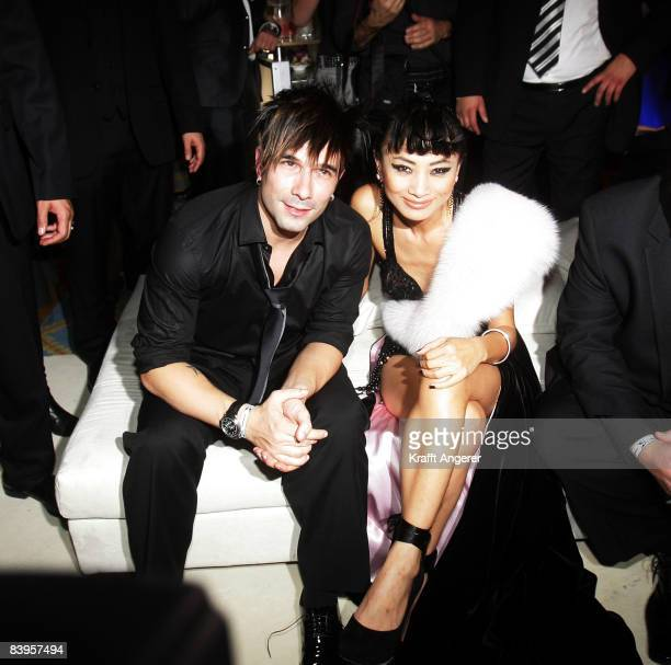 Actress Bai Ling Singer Marc Terenzi pose during the Movie Meets Media event on December 08 2008 in Hamburg Germany