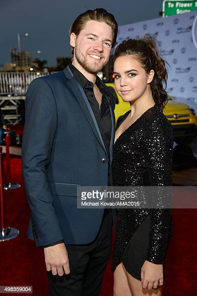 Actress Bailee Madison and brother Conor Riley attend the 2015 American Music Awards red carpet arrivals sponsored by FIAT 500X at LA Live on...