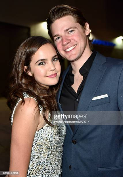 Actress Bailee Madison and guest attend the 2014 American Music Awards at Nokia Theatre LA Live on November 23 2014 in Los Angeles California