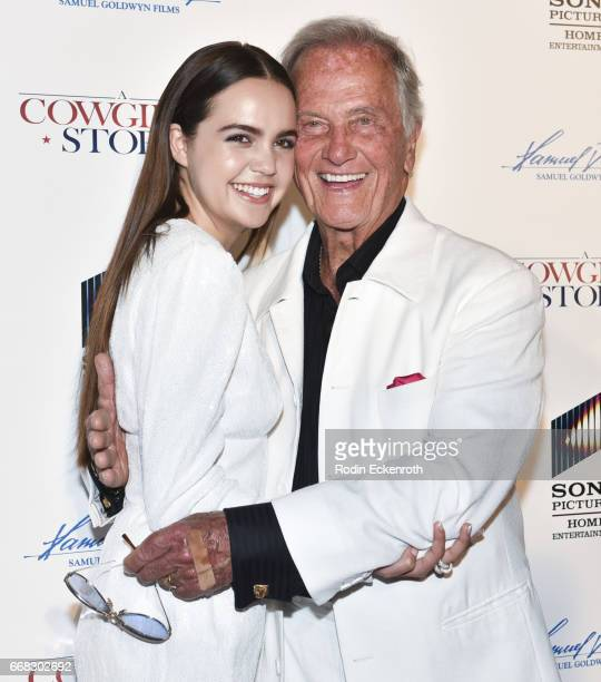 Actress Bailee Madison and singer Pat Boone attends the premiere of Samuel Goldwyn Films' 'A Cowgirl's Story' at Pacific Theatres at The Grove on...