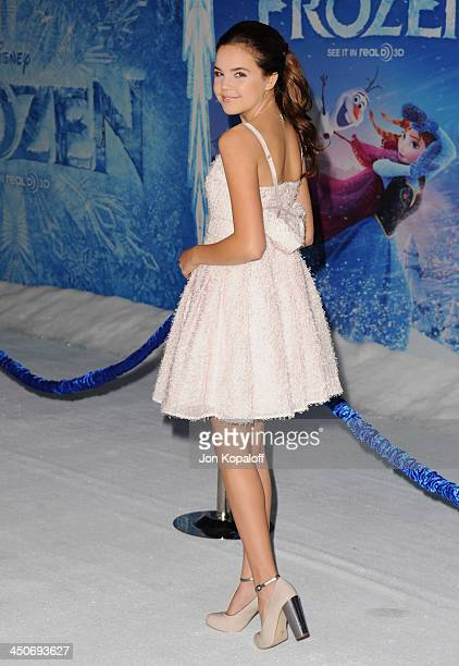 Actress Bailee Madison arrives at the Los Angeles Premiere 'Frozen' at the El Capitan Theatre on November 19 2013 in Hollywood California