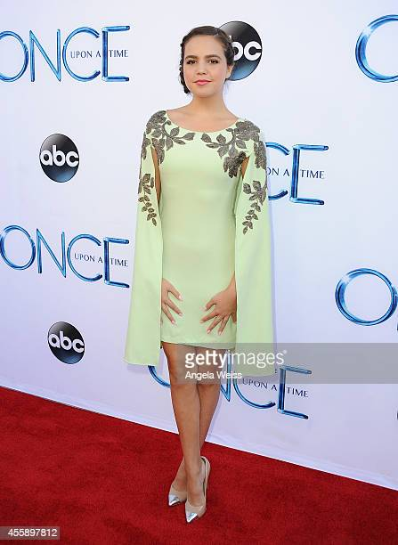 Actress Bailee Madison attends ABC's 'Once Upon A Time' Season 4 red carpet premiere at the El Capitan Theatre on September 21 2014 in Hollywood...