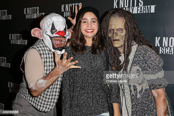 Actress Bailee Madison attends the Knotts Scary Farm celebrity VIP opening at Knott's Berry Farm on October 2 2014 in Buena Park California