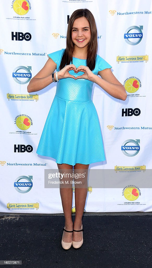 Actress <a gi-track='captionPersonalityLinkClicked' href=/galleries/search?phrase=Bailee+Madison&family=editorial&specificpeople=4136620 ng-click='$event.stopPropagation()'>Bailee Madison</a> attends the L.A. Loves Alex's Lemonade Event at the Culver Studios on September 28, 2013 in Culver City, California.