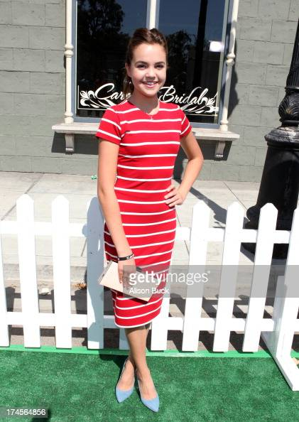Actress Bailee Madison attends Variety's Power of Youth presented by Hasbro Inc and generationOn at Universal Studios Backlot on July 27 2013 in...