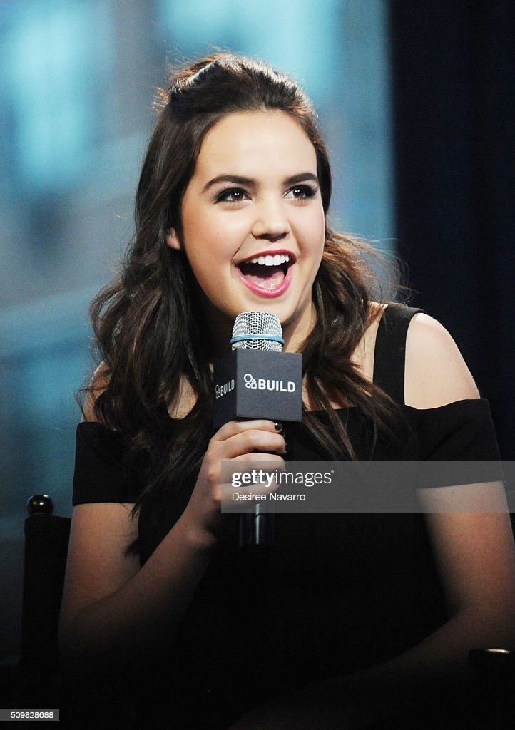Actress <a gi-track='captionPersonalityLinkClicked' href=/galleries/search?phrase=Bailee+Madison&family=editorial&specificpeople=4136620 ng-click='$event.stopPropagation()'>Bailee Madison</a> discusses her shows 'Good Witch,' and 'Once Upon a Time' during AOL Build Speaker Series at AOL Studios In New York on February 12, 2016 in New York City.