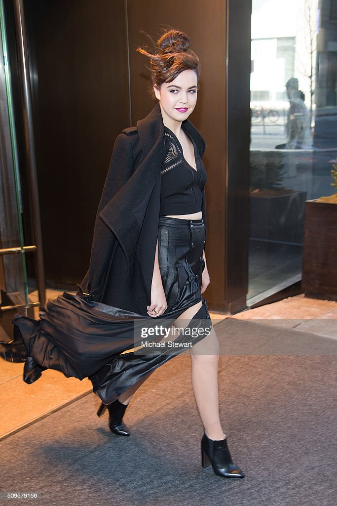 Actress <a gi-track='captionPersonalityLinkClicked' href=/galleries/search?phrase=Bailee+Madison&family=editorial&specificpeople=4136620 ng-click='$event.stopPropagation()'>Bailee Madison</a> is seen at Trump SoHo on February 11, 2016 in New York City.