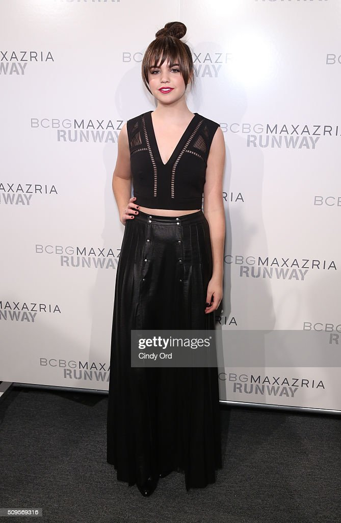 Actress <a gi-track='captionPersonalityLinkClicked' href=/galleries/search?phrase=Bailee+Madison&family=editorial&specificpeople=4136620 ng-click='$event.stopPropagation()'>Bailee Madison</a> poses backstage at the BCBGMAXAZRIA Fall 2016 fashion show during New York Fashion Week: The Shows at The Dock, Skylight at Moynihan Station on February 11, 2016 in New York City.