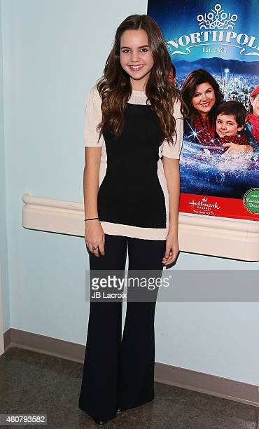 Actress Bailee Madison star of Hallmark Channel's hit movie 'Northpole' joins LOLLIPOP Theater Network for a special holiday treat surprising the...