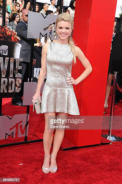 Actress Bailey Buntain attends the 2014 MTV Movie Awards at Nokia Theatre LA Live on April 13 2014 in Los Angeles California