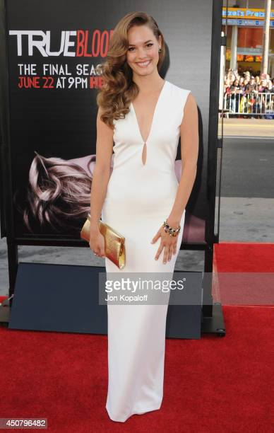 Actress Bailey Noble arrives at HBO's 'True Blood' Final Season Premiere at TCL Chinese Theatre on June 17 2014 in Hollywood California