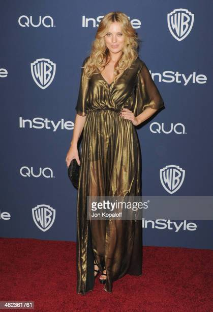 Actress Bar Paly arrives at the 2014 InStyle And Warner Bros 71st Annual Golden Globe Awards PostParty on January 12 2014 in Beverly Hills California