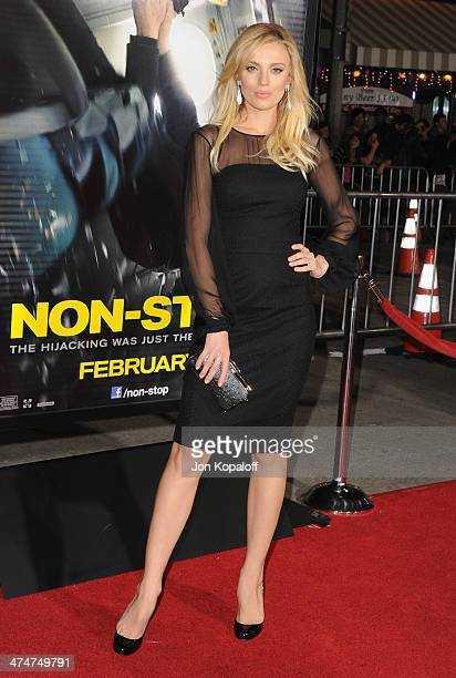 Actress Bar Paly arrives at the Los Angeles Premiere 'NonStop' at Regency Village Theatre on February 24 2014 in Westwood California